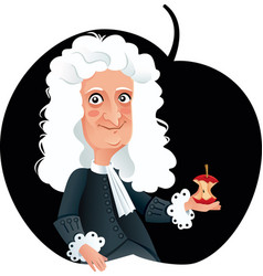 isaac newton caricature vector image
