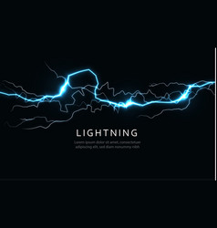 Isolated lightning horizontal power and energy vector