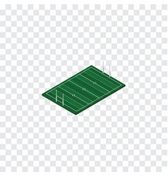 Isolated rugby isometric american football vector