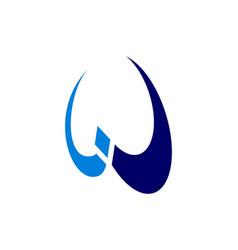 letter w concept logo icon vector image