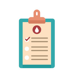 medical blood results icon flat isolated vector image
