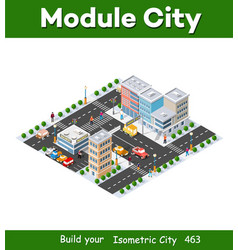 Megapolis 3d isometric three-dimensional view vector