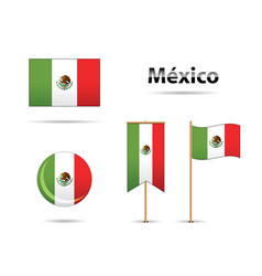 mexican flags vector image