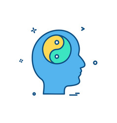 mind icon design vector image