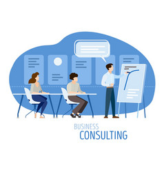 Modern business consulting vector