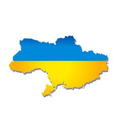 new map of ukraine vector image