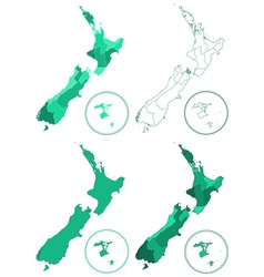 New Zealand maps vector image