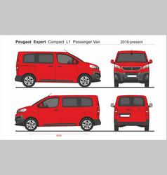 Peugeot expert pass compact van l1 2016-prese vector