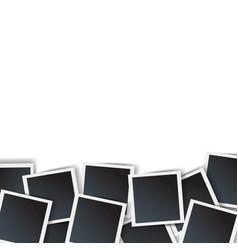 photo border isolated white background vector image