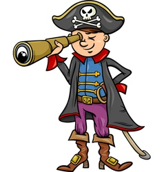 pirate boy cartoon vector image