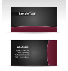 purple balck business card vector image