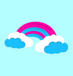 Rainbow icon fantasy world of the unicorn cartoon vector