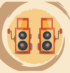 Retro cameras design vector