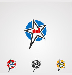 rock star logo icon element and template for vector image