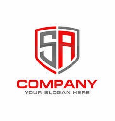 sa initial logo design vector image