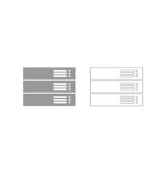 server grey set icon vector image