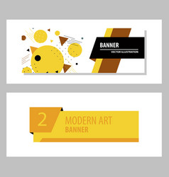 Set of abstract design banner template vector