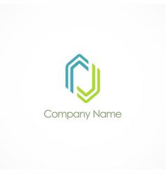 shape line company logo vector image