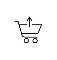 shopping cart with up arrow sign vector image