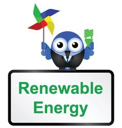 SIGN RENEWABLE ENERGY vector image