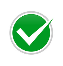 simple check mark circle symbol design vector image