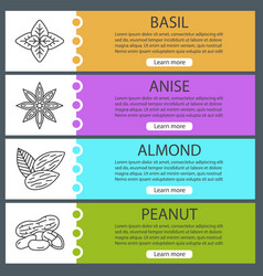 Spices web banner templates set vector