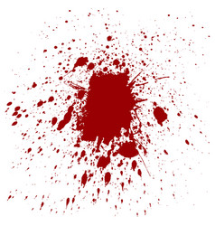 Splatter red color background vector