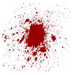 splatter red color background vector image