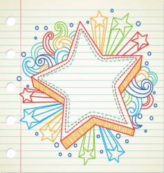 Star doodle vector
