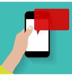 Text messaging flat concept vector