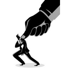 Under pressure businessman vector