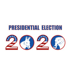 Us presidential election 2020 stylized in the vector