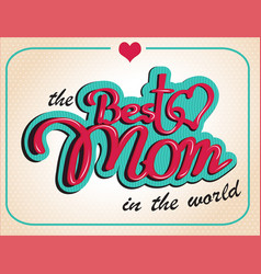 Vintage happy mothers s day gift card vector