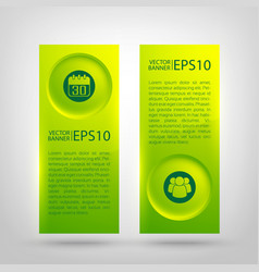 Web infographic green vertical banners vector