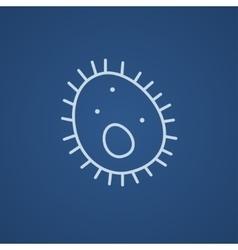 Bacteria line icon vector image vector image