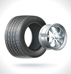 Car Tire vector image vector image