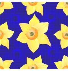 Daffodils on a Blue Background vector image vector image