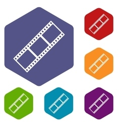 Film strip icons set vector image vector image