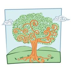 Marker Effect Tree vector image