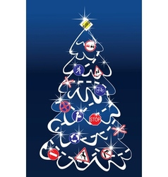 Traffic Christmas Tree vector image vector image