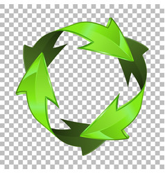 3d recycling symbol vector image vector image