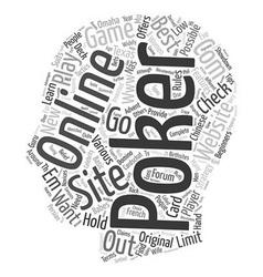 best online poker site text background wordcloud vector image