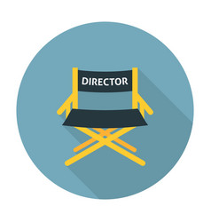 Directors chair flat icon vector image vector image