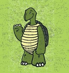 Happy Turtle vector image vector image