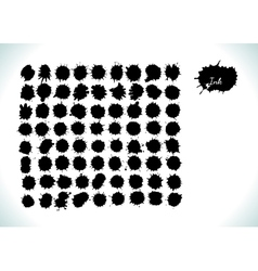large set of grunge watercolor splashes vector image