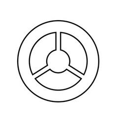 steering wheel black color icon vector image