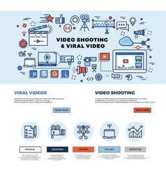 Viral video marketing movie film-making vector image