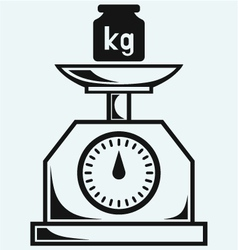 Weight scale and weight kilogram vector image vector image