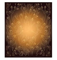 Background with spring branches - golden vector