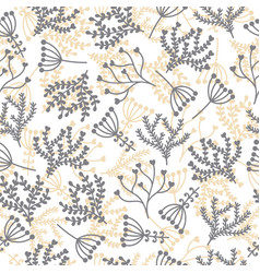 cute seamless pattern floral stylish background vector image